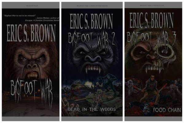 For those who didn't know, Bigfoot War is a series! And how 'bout those covers, eh? Nice!