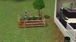 My Sim...gardening :D