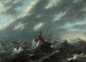 andries van eertvelt storm at sea